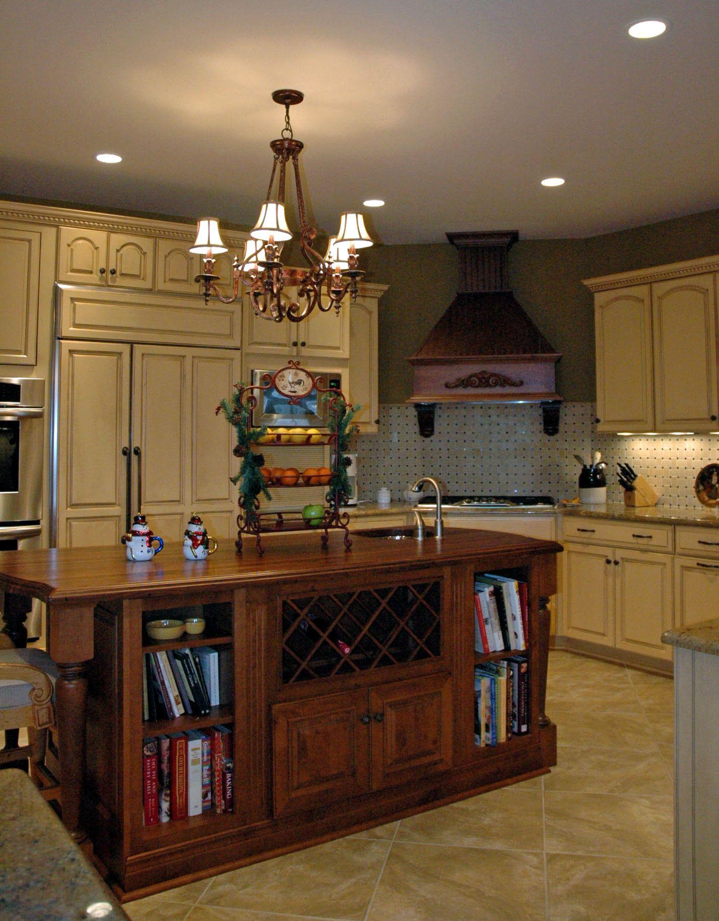 Butternut Glazed Kitchen With A Wood Island Wood Island Home Decor Decor