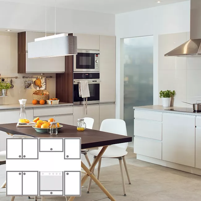 Zestaw Modulowych Mebli Kuchennych Akacja 1 8 M Modulowe Castorama Home Decor Furniture Decor