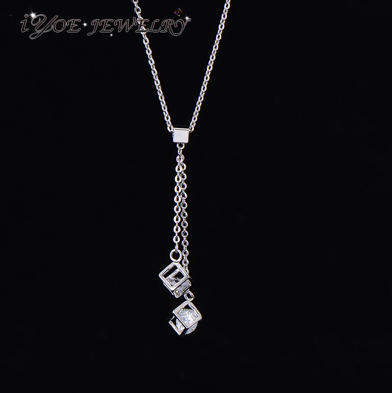 Aliexpress.com : Buy IYOE New Arrival Sexy Modern Magic Cube Long Necklace For Women Top Quality CZ Crystal Thin Chain Necklace Boho Jewelry from Reliable thin chain necklace suppliers on iYOE Official Store