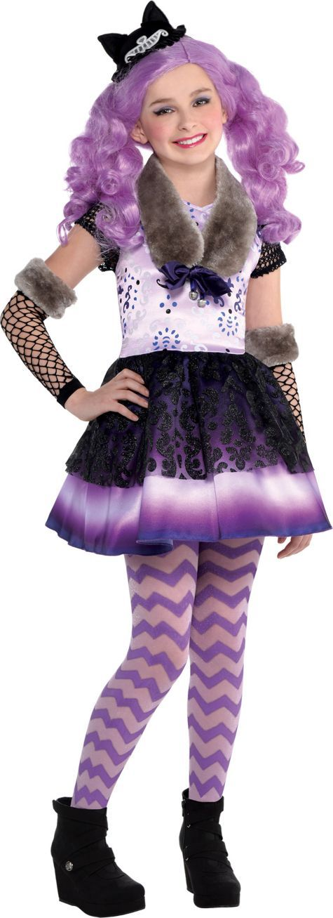 Girls Kitty Cheshire Costume - Ever After High | Disfraces de ...