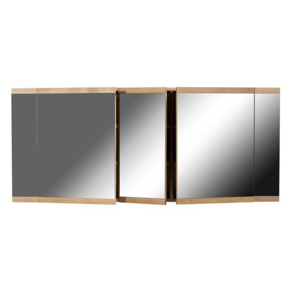 Badmöbel mit in Wand eingebautem Spiegelschrank Wand in Betonoptik