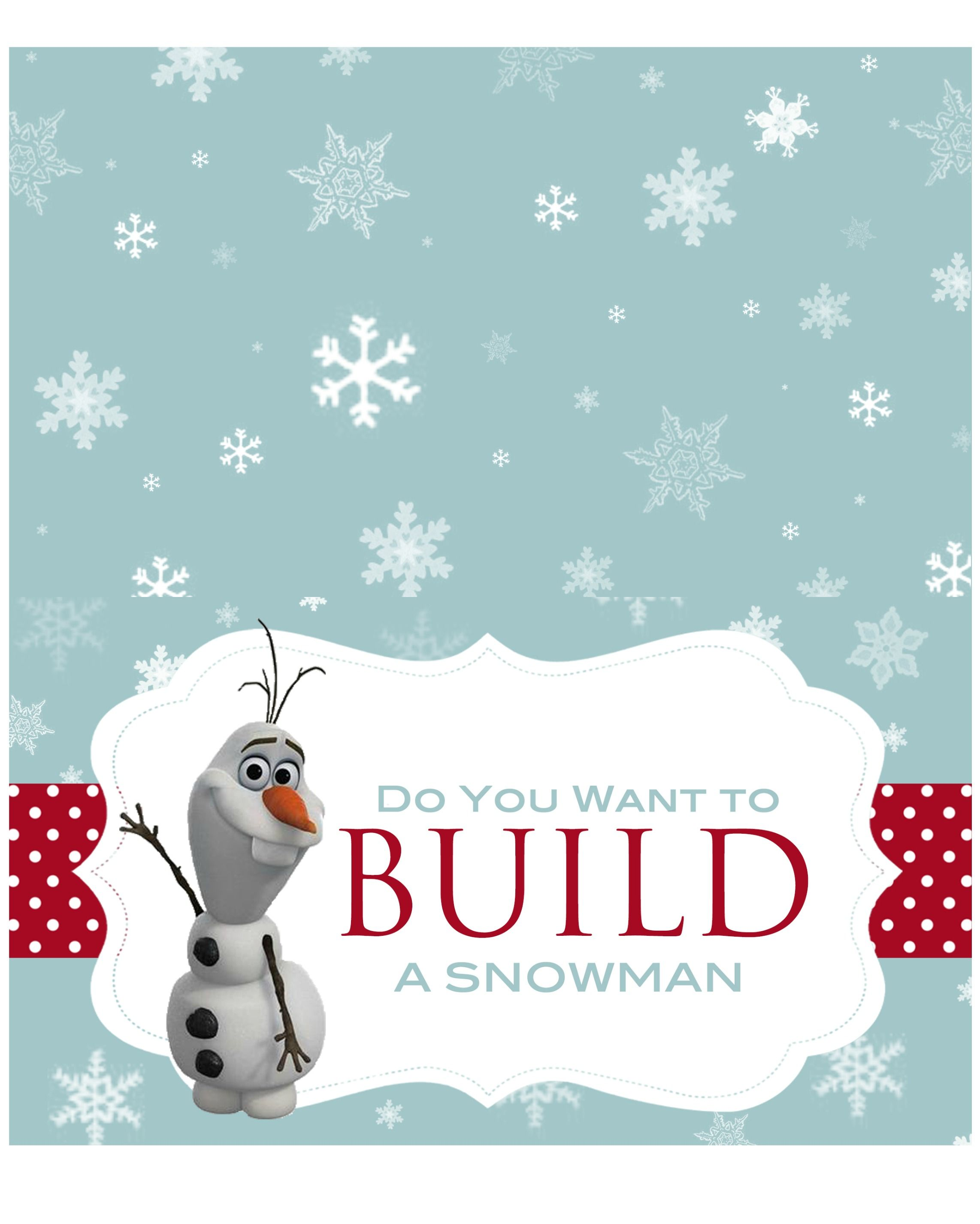 Let S Build A Snowman Kit With Free Printable Disney Gift Bags Frozen Birthday Party Printables Build A Snowman