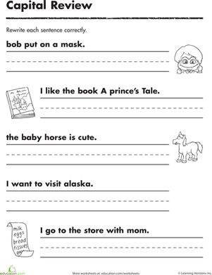 Free Kindergarten Sentence Writing Worksheets #1: | Projects to ...