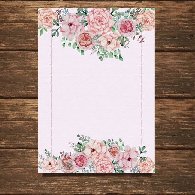 Floral wedding invitation card invitation card background material - free invitation backgrounds