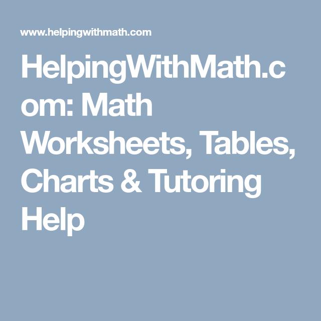 Helpingwithmath Com Math Worksheets Tables Charts Tutoring Help Math Worksheets Free Math Worksheets Math