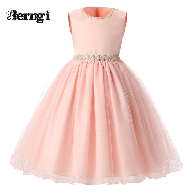 b2ae72566a Nueva Rosa verano Niños Vestidos Para Niñas Niños Ropa Formal Vestido de  Fiesta de Cumpleaños Vestido de Princesa Para Niña 8 Años en Vestidos de La  madre y ...