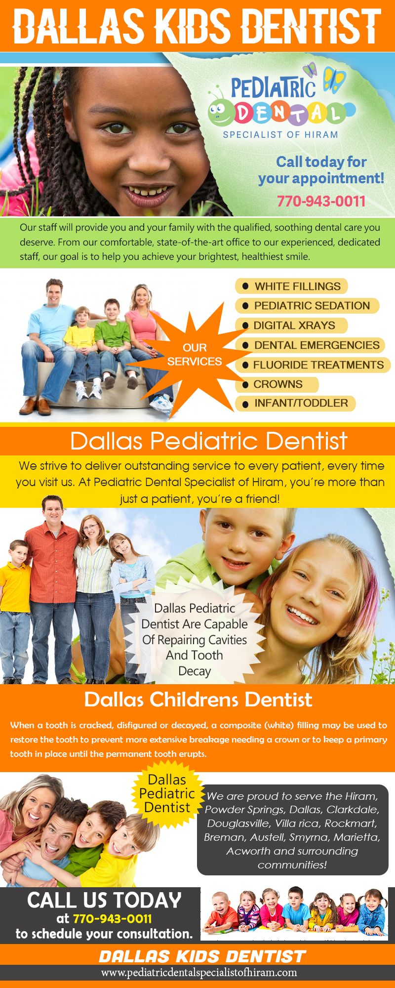 Check this link right here http://pediatricdentalspecialistofhiram.com/dallas-kids-dentist/ for more information on Dallas Kids Dentist. Important step in establishing good dental hygiene routines is to take your kids to a family dentist early and often. Even though oftentimes work at this stage is not as critical as it will be later, it will establish a good precedent with your kids for their later years.  Follow Us : http://ezlocal.com/ga/hiram/dentist/1298414