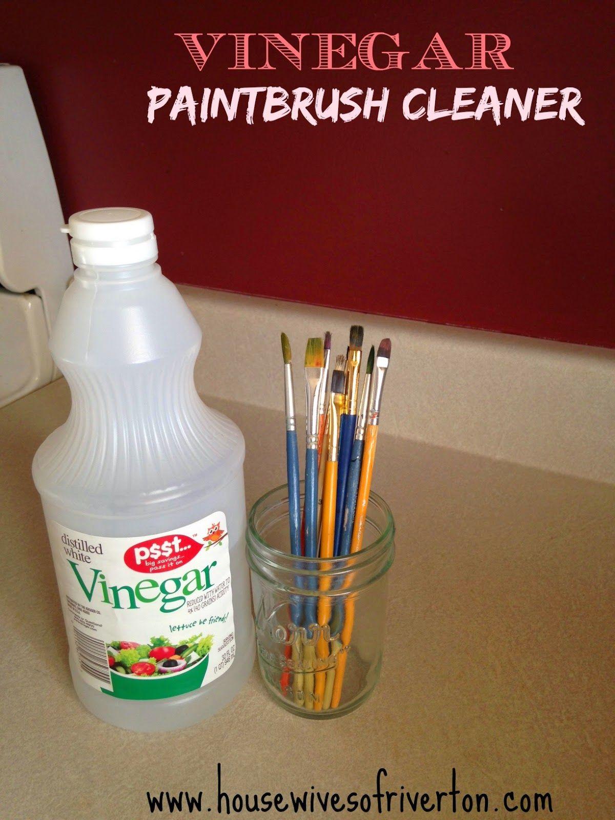 Vinegar Paintbrush Cleaner