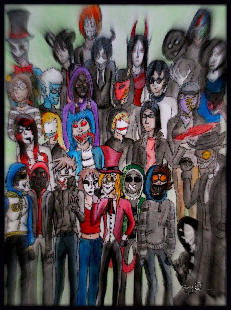 all creepypasta characters list - Google Search