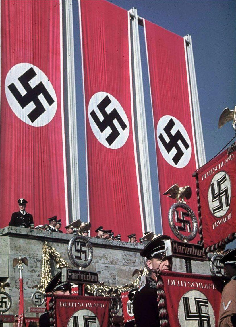 Comício do Partido Nazista. (c.1939).