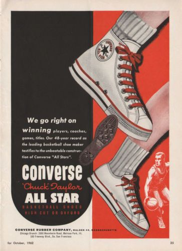 Sweet Vintage 1962 CONVERSE ALL STAR BASKETBALL SHOES Print
