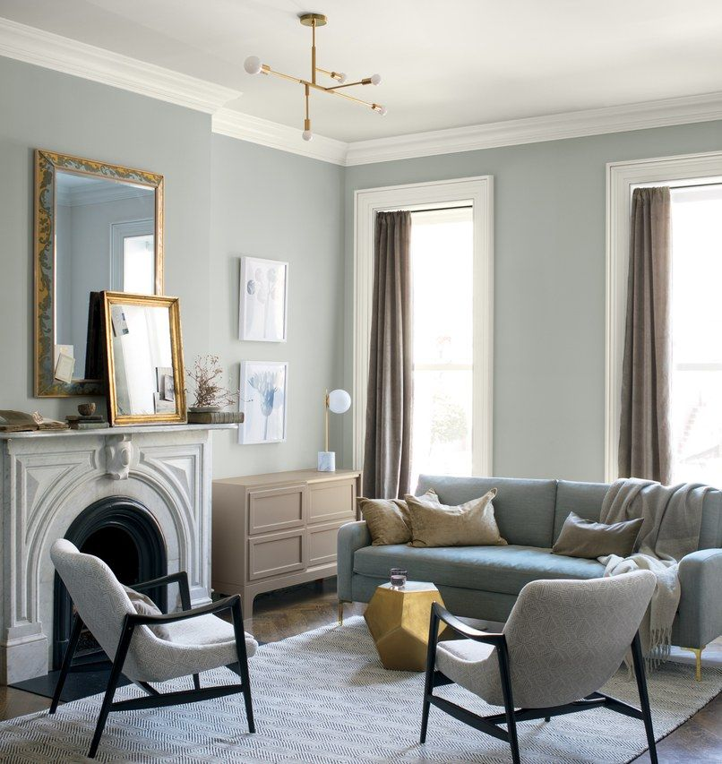 Benjamin Moore S 2019 Color Of The Year Is Living Room Colors Small Space Living Room Popular Living Room