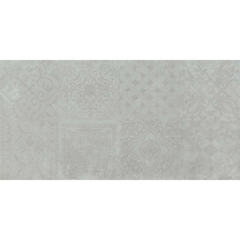 Bodenfliese Dekor Icon Hellgrau 30x60cm Rektifiziert Dekorfliesen Fliesen Dekor