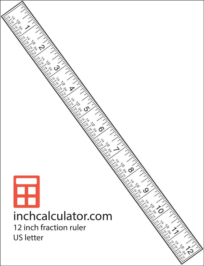 """Use the 12"""" ruler with fraction markings for accurate"""