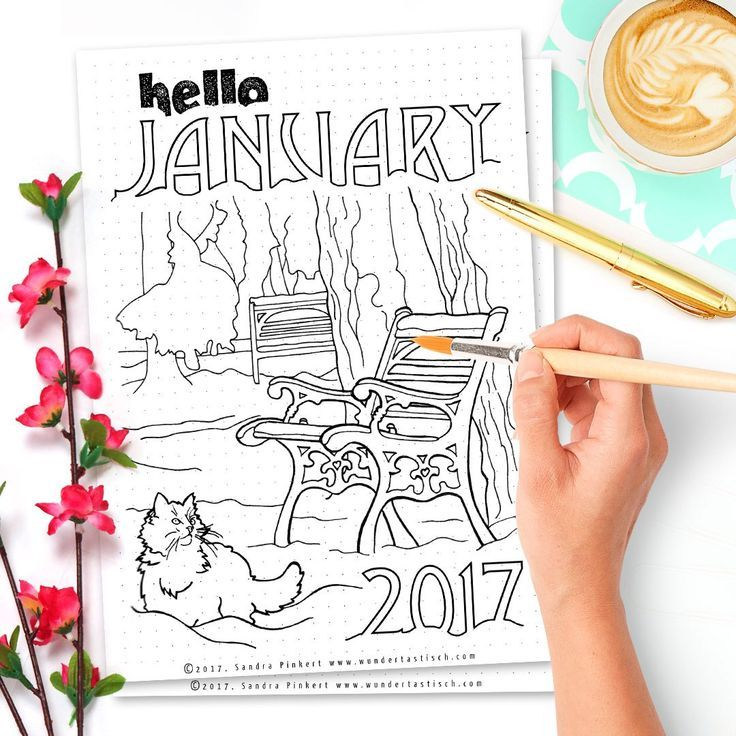 Free Bullet Journal Printable Kit January 2017 - Wundertastisch