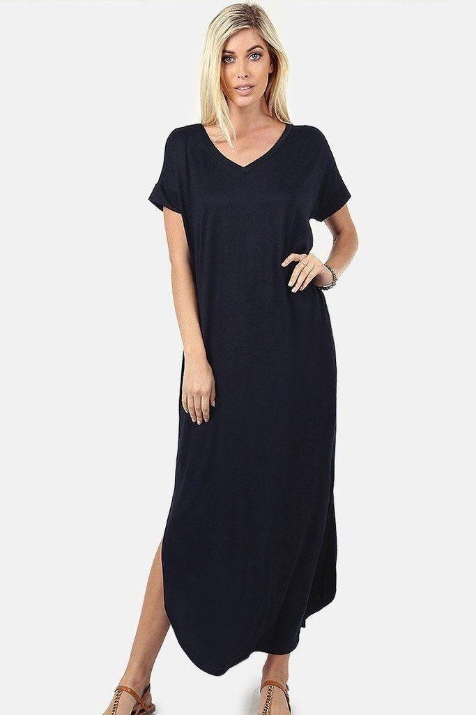 T-Shirt Maxi Dress | Maxi tee dress, Maxi shirt dress, Long sleeve ...