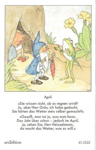 Fleißbildchen - Original Ida Bohatta - ars 612522 - April