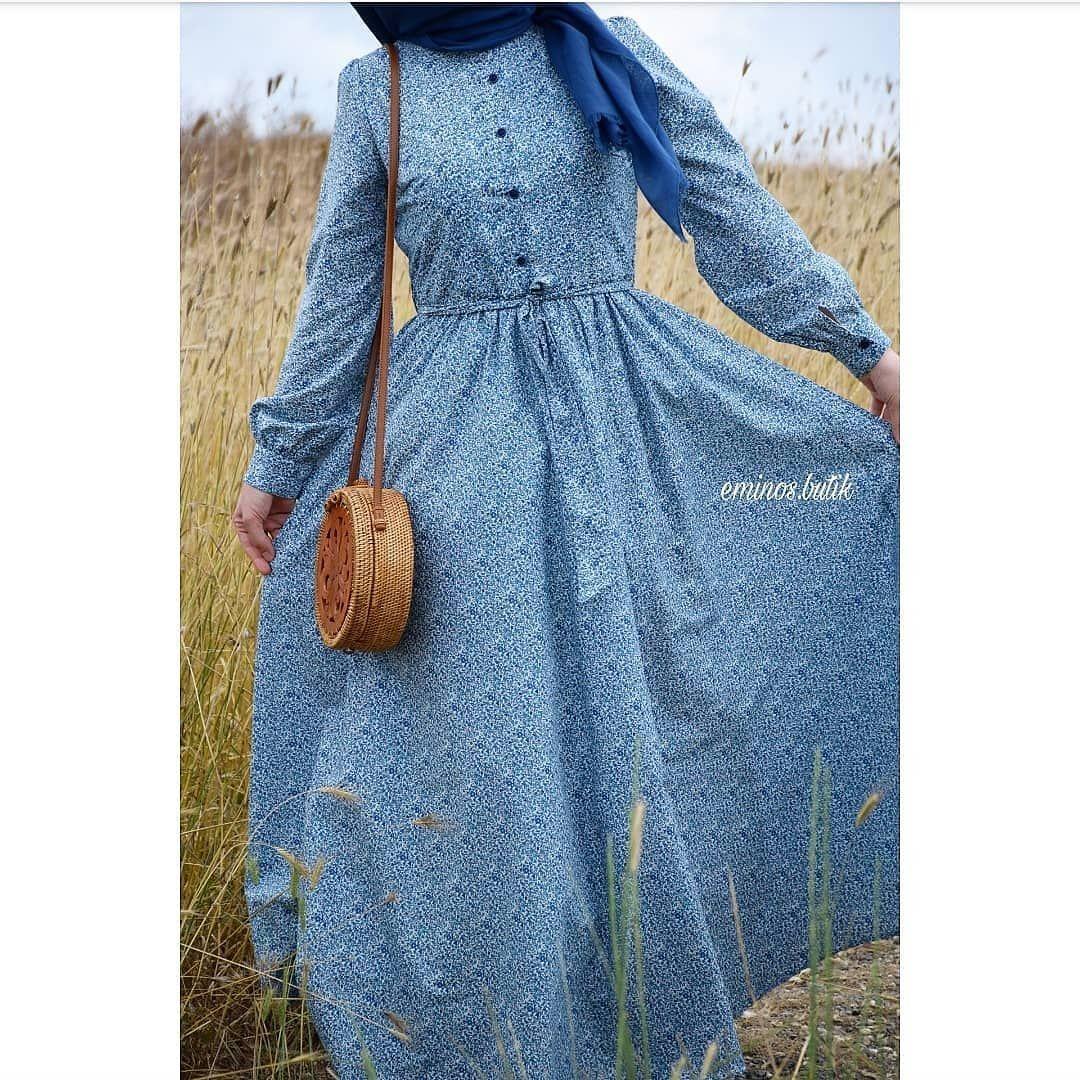 c58cdfb89cf1c Vintage Tasarım Çiçekli Elbise 💐 Kumaş:pamuklu vual Elbise uzunlu ...