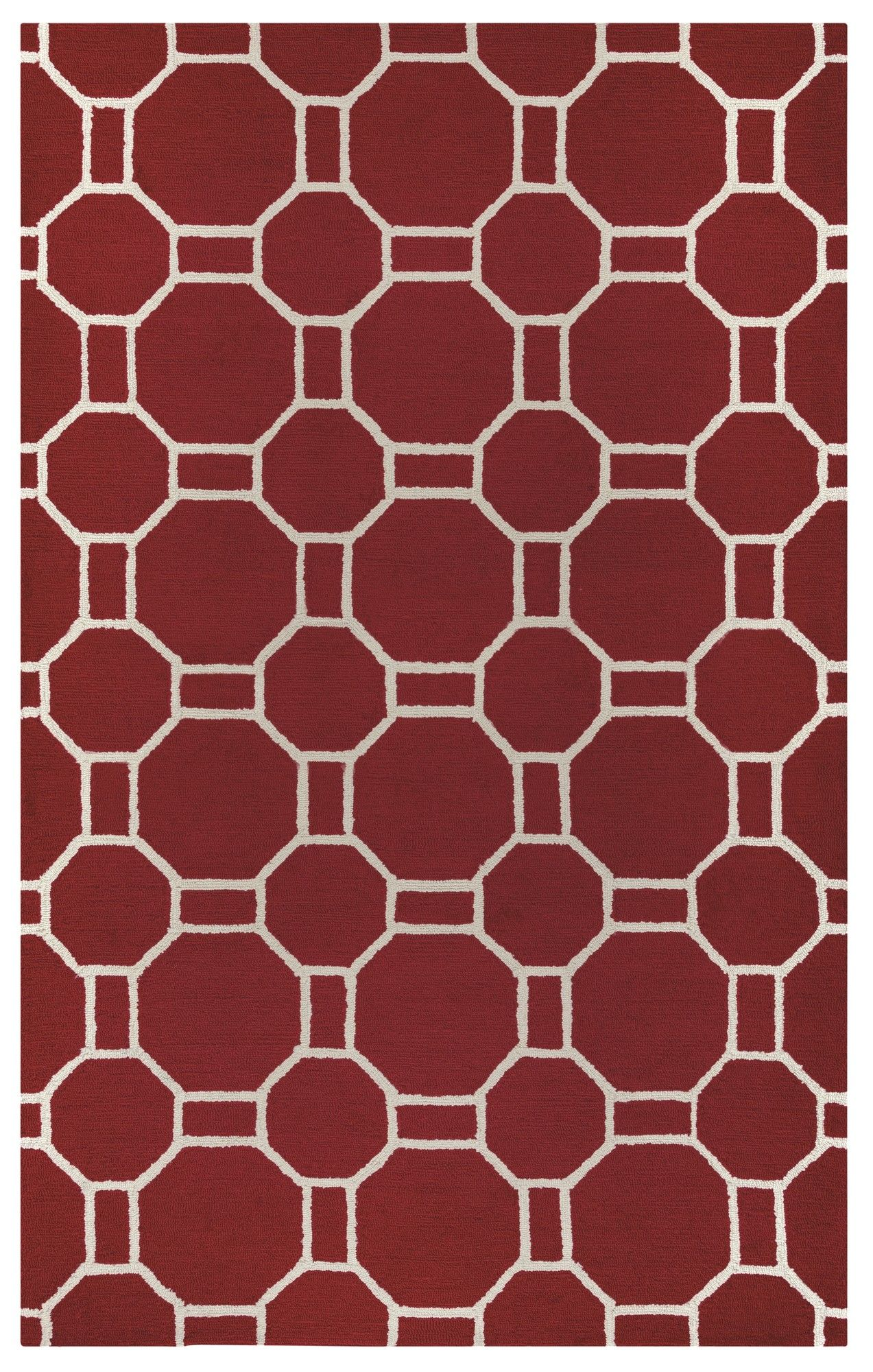 June Hand-Tufted Red Area Rug