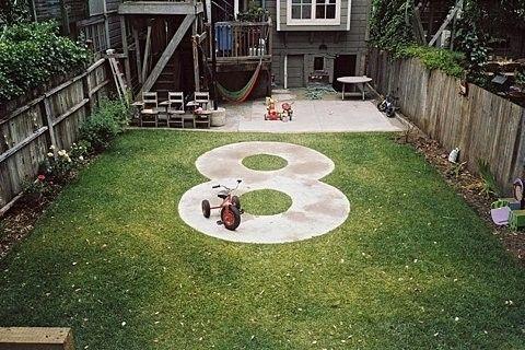 Figure Eight Sidewalk Yard Kids Children Backyard For Kids