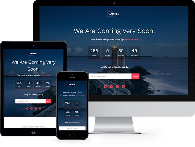 Launch free html5 bootstrap template for coming soon page free launch free html5 bootstrap template for coming soon page free responsive html5 template pronofoot35fo Choice Image
