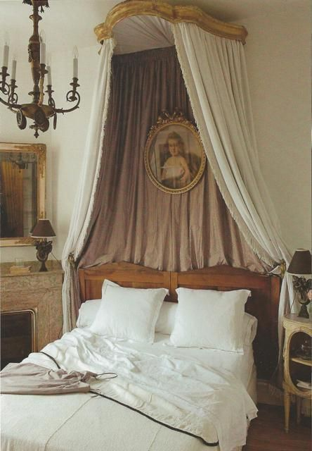 Pretty French Bedroom Canopy Decorating Beds Bed Crown