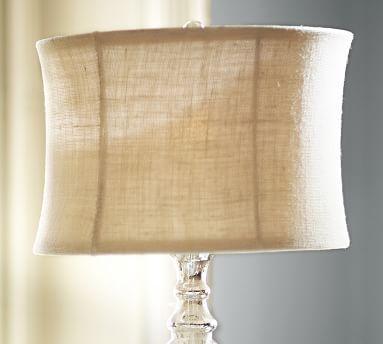 Burlap Flared Drum Lamp Shade #potterybarn