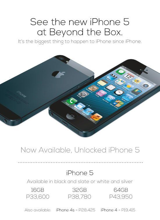 Beyond the Box Now Selling Unlocked iPhone 5 Devices - http://pinoytechblog.net/beyond-the-box-now-selling-unlocked-iphone-5-devices