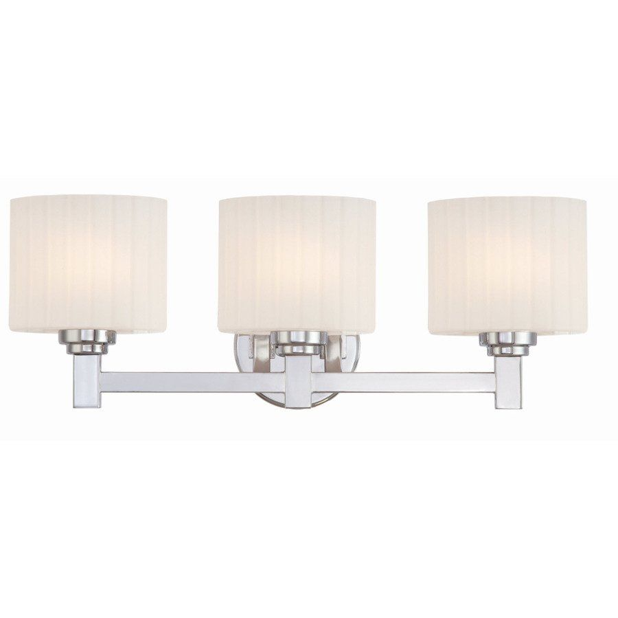Bathroom Lights Canada ashley harbour 3-light polished chrome bathroom vanity light