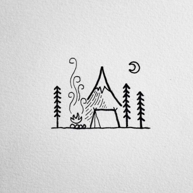 Campfire Doodle With Images Doodle Drawings Easy Drawings