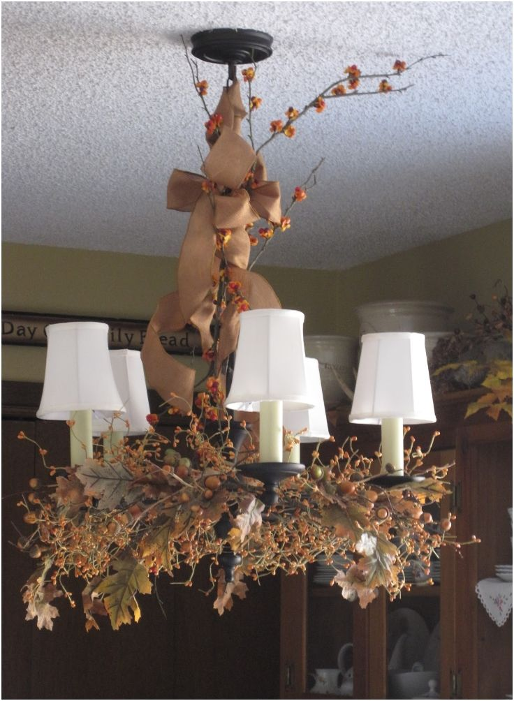 Top 10 Diy Fall Chandelier Decorations I Love Autumn