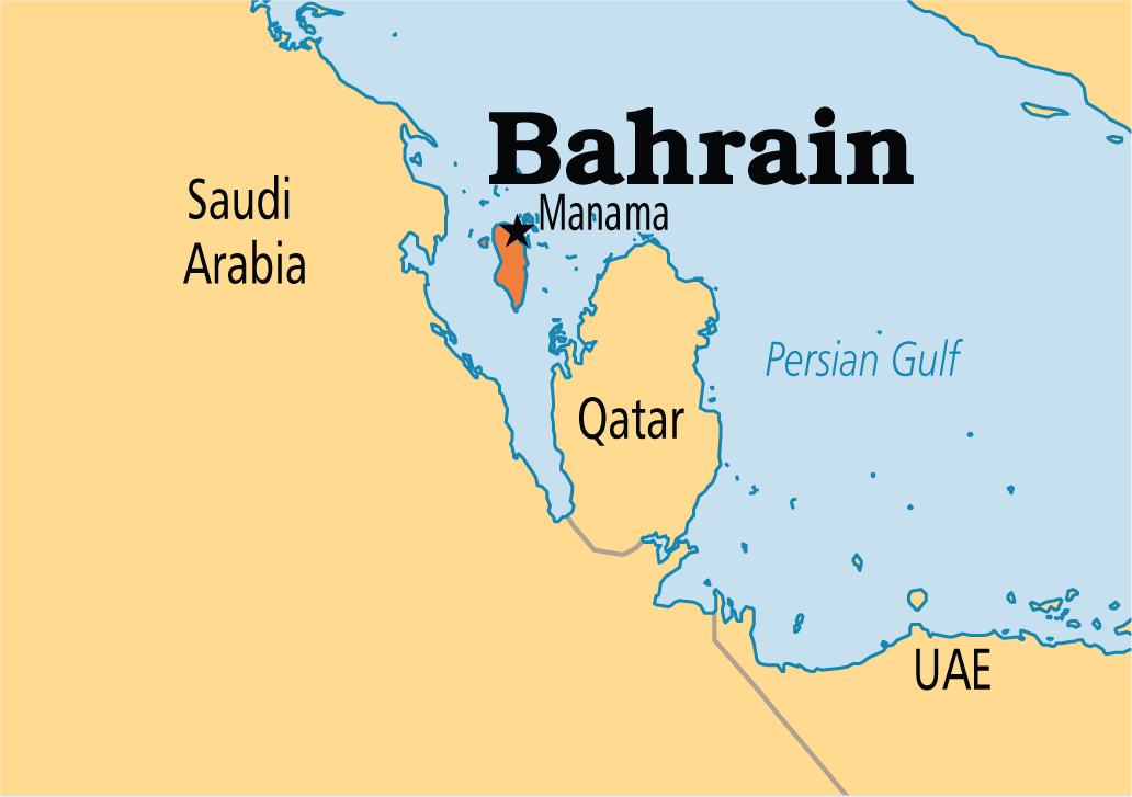 Bahrain is an island in the Persian Gulf off the coast of the ...