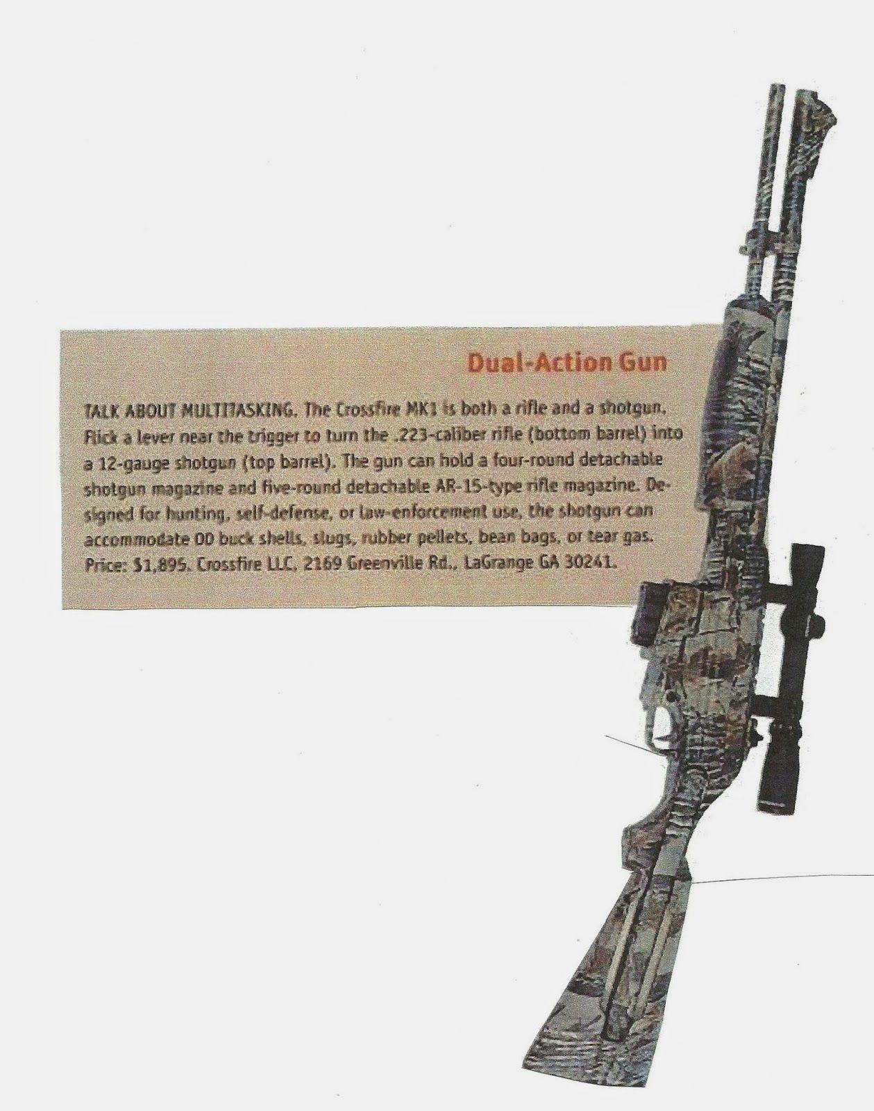 Bushcraft e medicina: fucile da sopravvivenza: Crossfire MK1