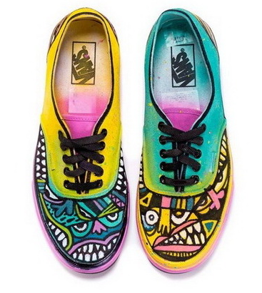0eb2bb37366 Custom Vans designed by a group of artists for the Sneak It