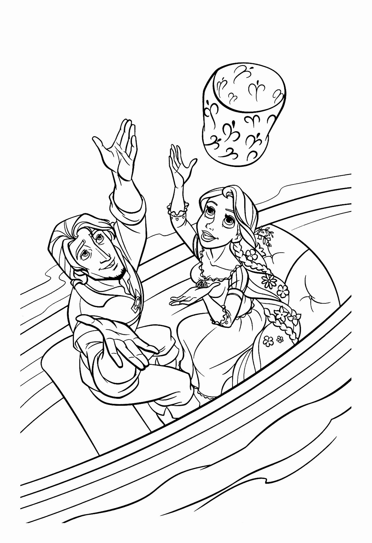 Disney Flynn Rider And Pascal Coloring Pages For Kids Tangled Coloring Pages Princess Coloring Pages Rapunzel Coloring Pages