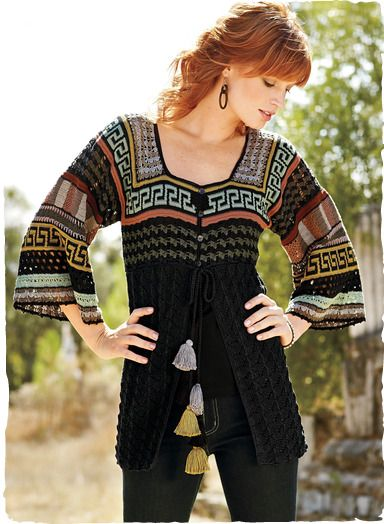 ed5c03252a Pima Cotton Inca Polychrome Cardigan. Shop Women s Art Knit Cardigans   Sweaters  Knit in Spring   Summer Weight Peruvian Alpaca or Pima Cotton.