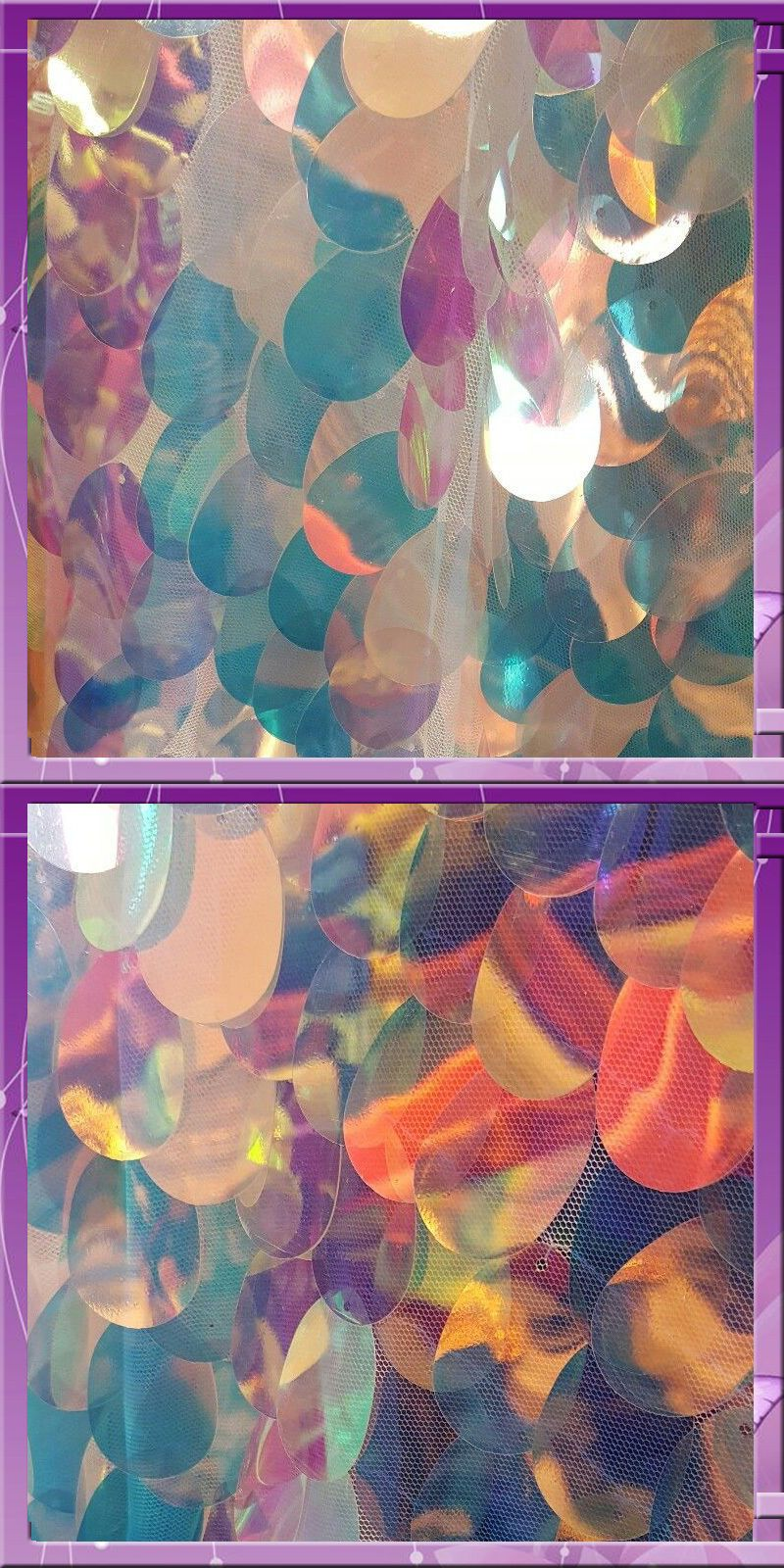 Fabric 28162: Big Sequin Hologram Fabric 45 Inches Wide Sold By The Yard White -> BUY IT NOW ONLY: $35 on eBay!