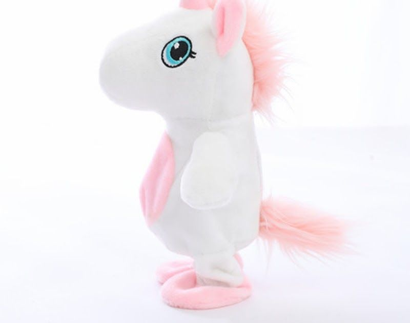 9b7ab2fba7c Discount Up to 50% 25cm Kawaii Unicorn Walking Talking Stuffed Plush Doll  Cute Soft Animal Horse Toy Sound Record Unicorn Kids Baby Birthday Gifts