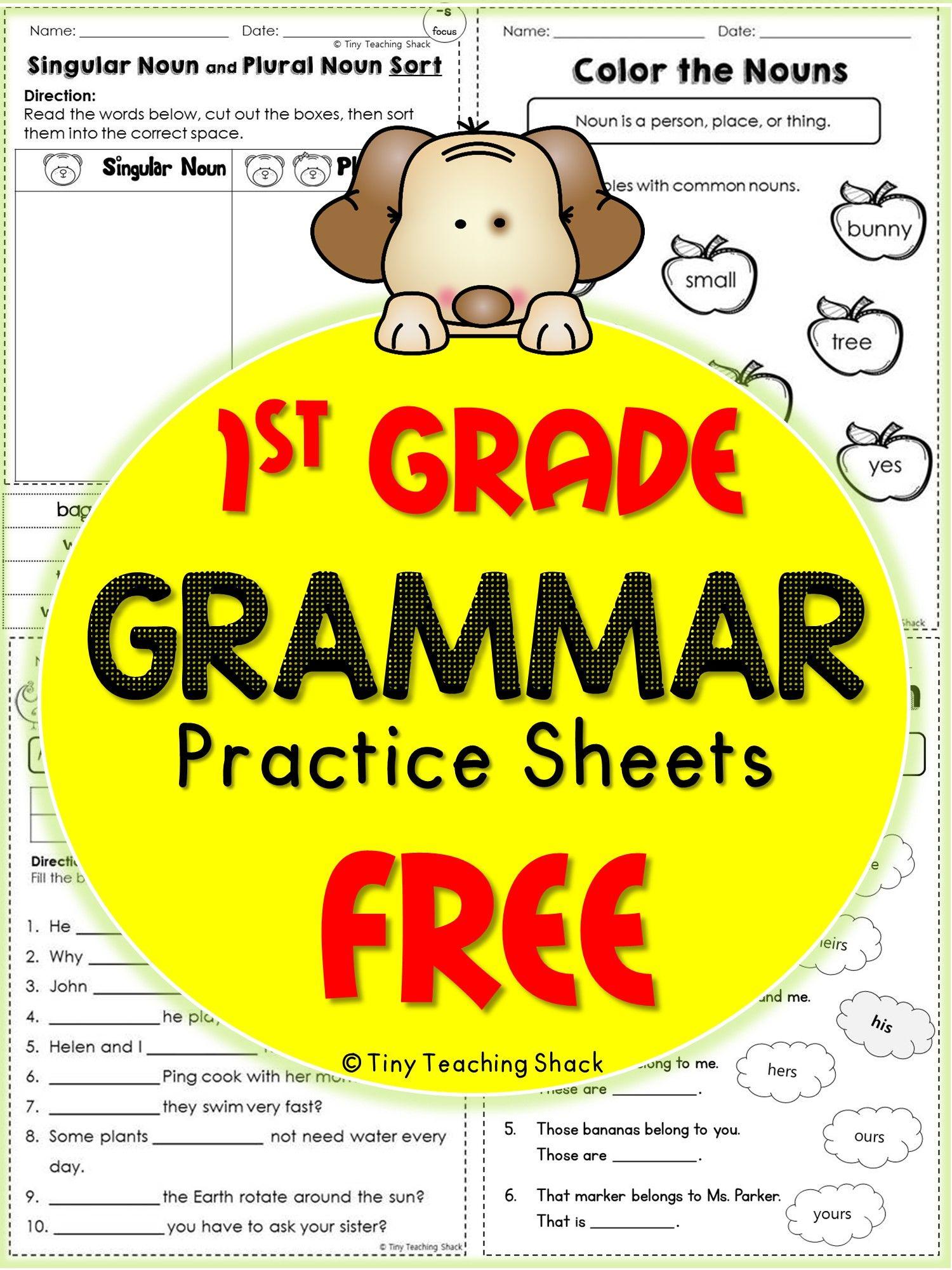 1st Grade Language Arts No Prep Printables Freebie