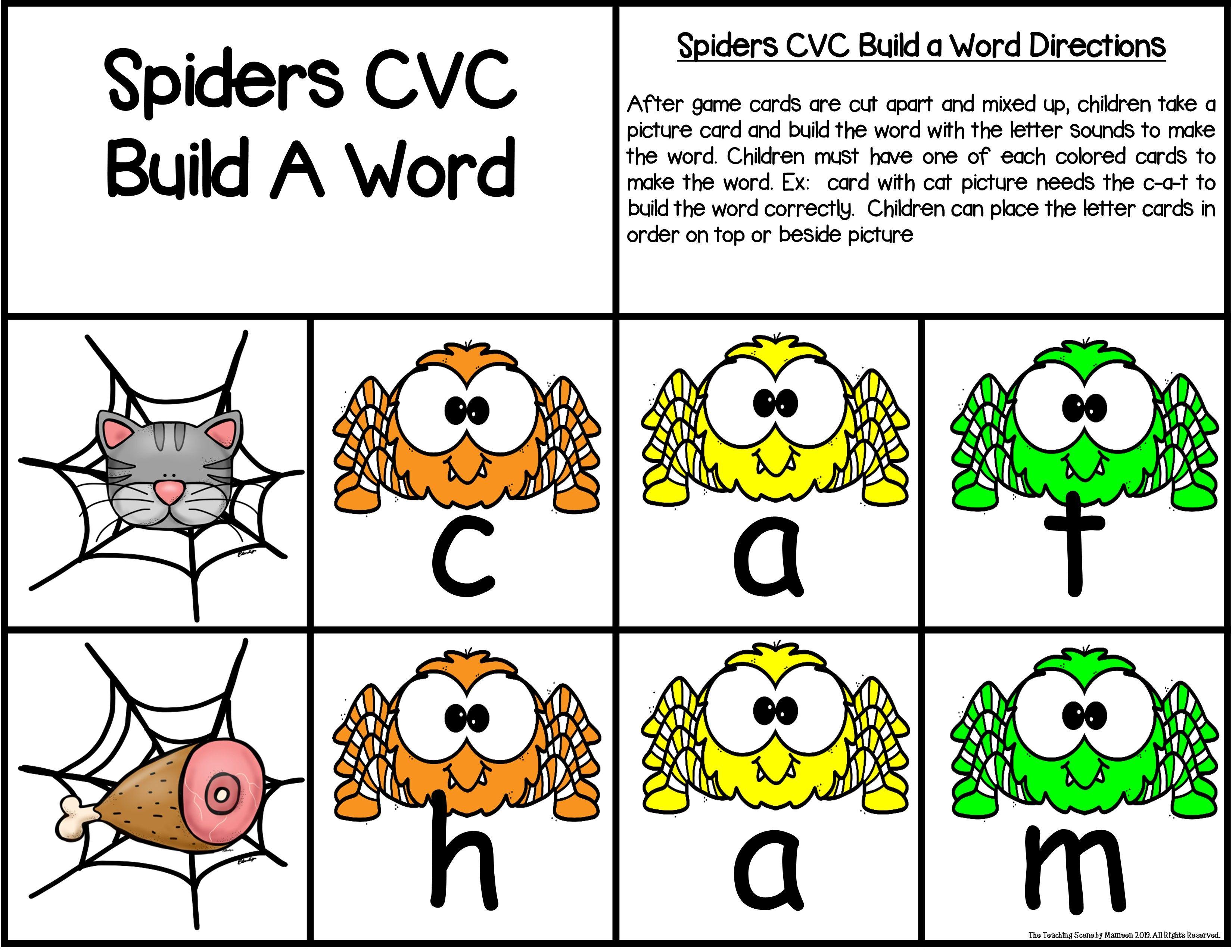 Spiders Build A Cvc Word