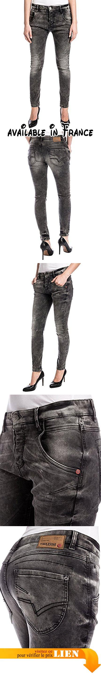Timezone Rivatz, Jeans Femme, Gris-Grau (Smut Black Wash 3998), 29 W/34 L.  #Apparel #PANTS