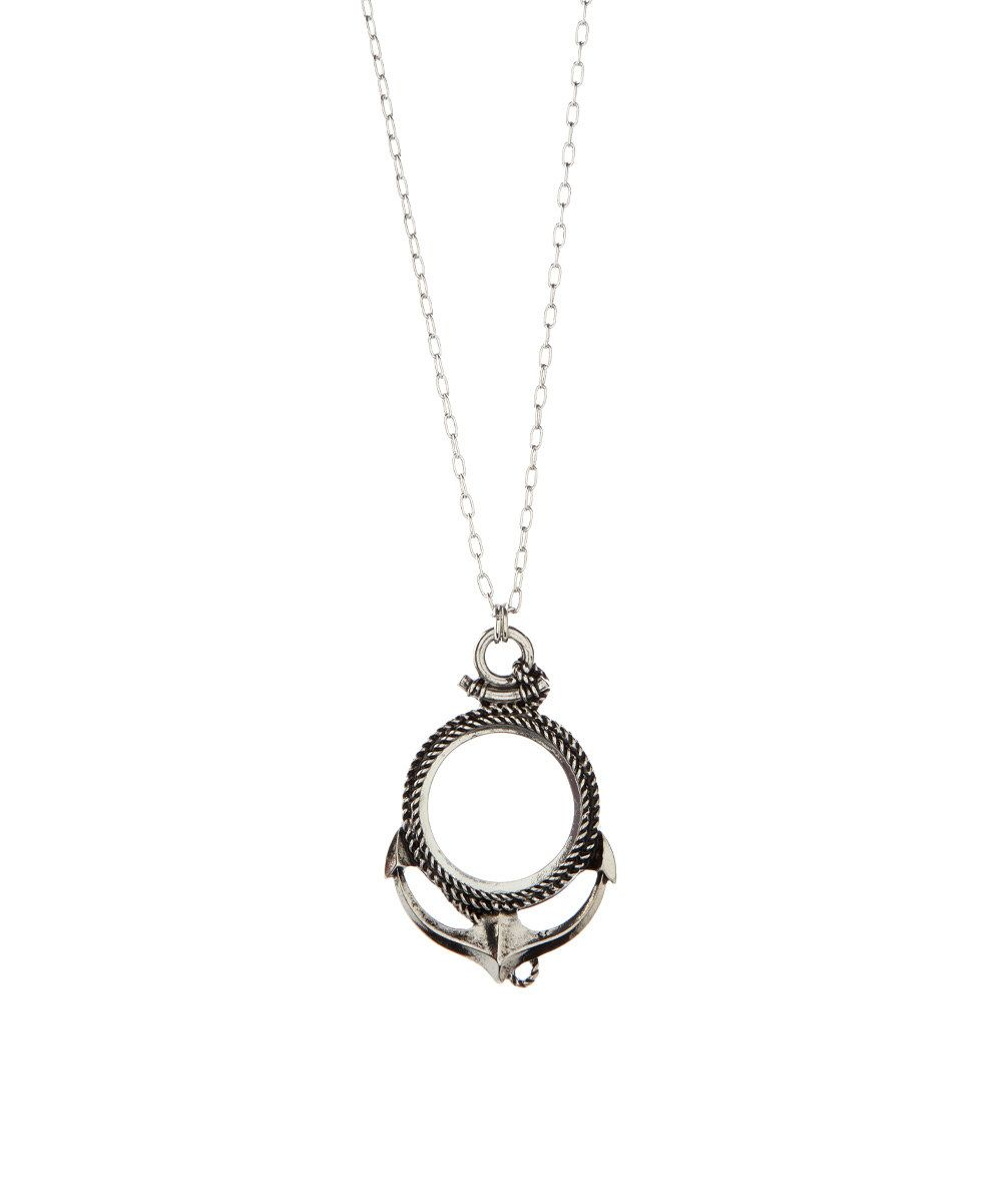 Look at this Silvertone Anchor Magnifying Glass Pendant Necklace on #zulily today!