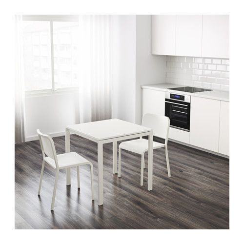 Melltorp Table White 29 1 2x29 1 2 Extendable Dining Table