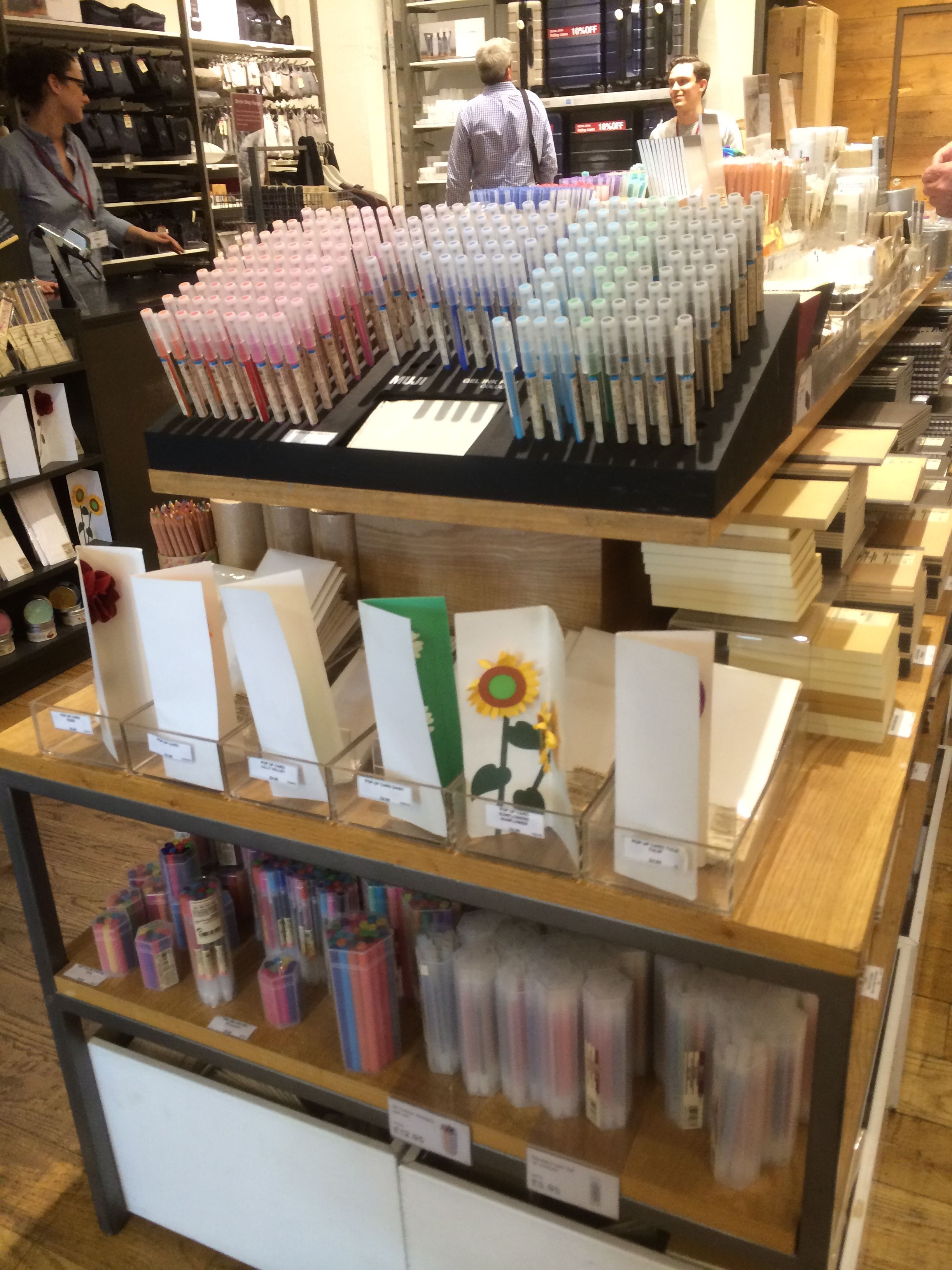 Muji London Stationery Layout Landscape Fixtures