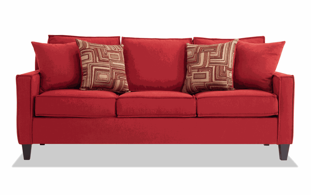 Jessie 80 Red Sofa In 2020 Red Sofa Sofa Modern Sofa