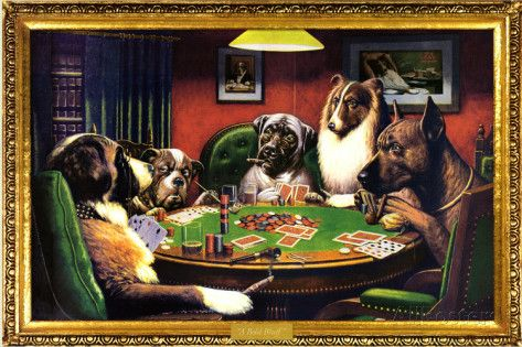 Dogs Playing Poker Prints Dogs Playing Poker Dog Art Posters