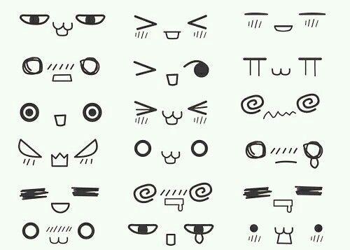 cute doodle emoji japan kawaii manga nyan