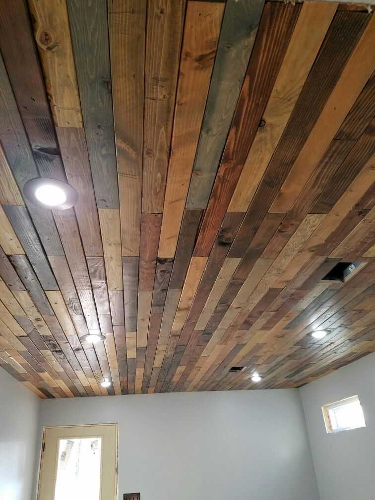 Pallet Wood Ceiling Colored Ceiling Wood Ceilings Wood Pallets