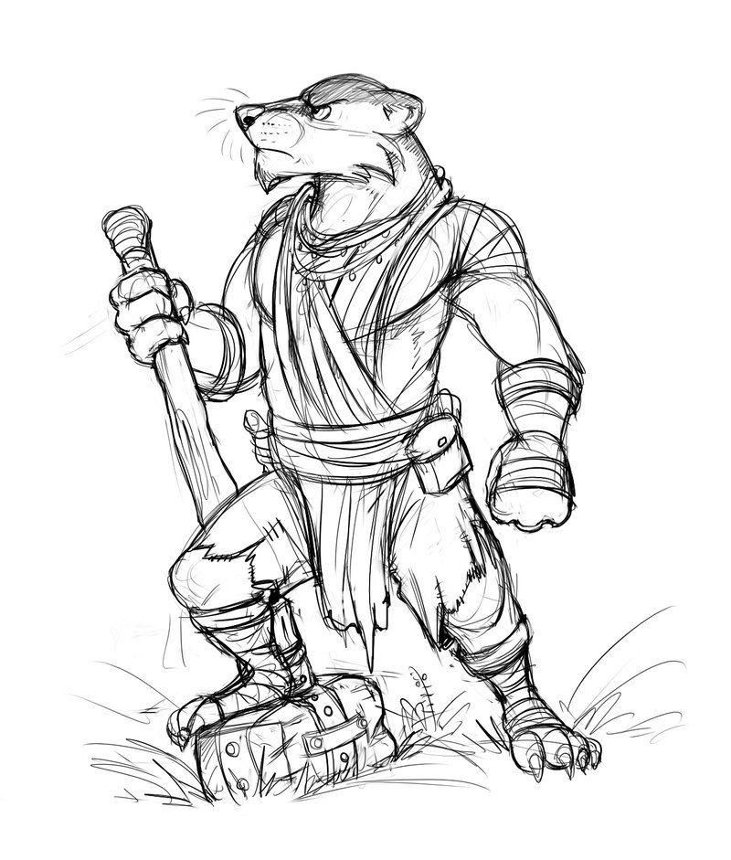 Badger Warrior by Temiree.deviantart.com on @DeviantArt