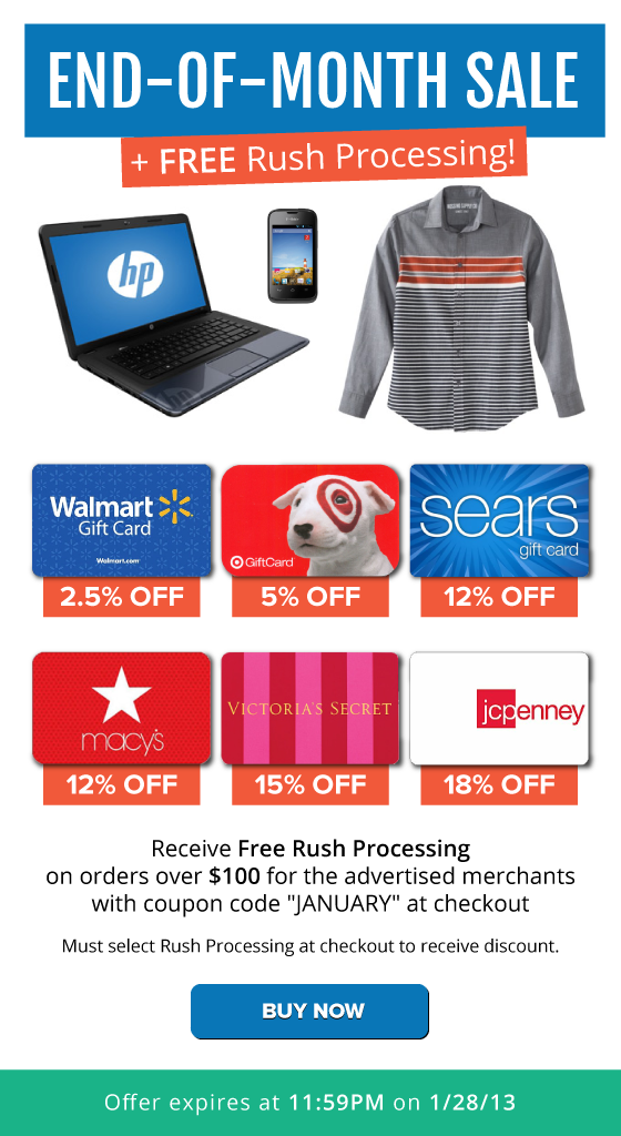 1Day Only FREE Rush Processing + Target 5 OFF, Macys 12